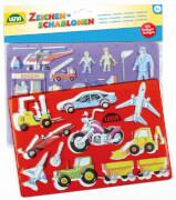 Zeichenschablone Fahrzeuge/Me