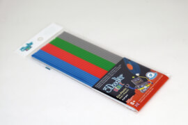 3DOODLER Refill 24 Stäbchen in den Farben grau, blau, grün, rot