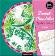 Funkel-Mandalas Gold & Silber - 8 Karten (100% selbst gemacht)