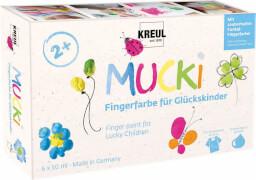 MUCKI Fingerfarbe für Glückskinder 6er Set 50 ml