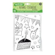 JEKA - MAL MICH BUNT - Ausmal-Tischdecke aus Papier, Motiv Kindergeburtstag