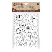 JEKA - MAL MICH BUNT - Ausmal-Tischdecke aus Papier, Motiv Zoo