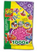 Bügelperlen 1.000 Stck. rosa