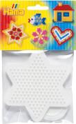 Hama® Bügelperlen Midi - Stiftplatten im Beutel - kleines Herz, kleiner Stern