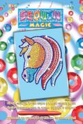Sequin Magic - Paillettenbild - Pferd