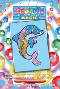 Sequin Magic - Paillettenbild - Delfin