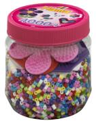 Hama® Bügelperlen Midi - Dose pink - 3 Stiftplatten, 4000 Stück