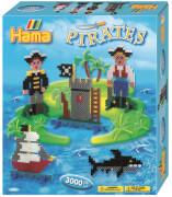 Hama® Bügelperlen Midi - Geschenkpakung Piraten -1 Stiftplatte großes Viereck, 30