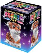 Sequin Art - Paillettenbild/-figur - 3D Sequin Tiger