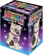 Sequin Art - Paillettenbild/-figur - 3D Sequin Katze
