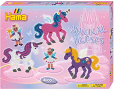 Hama® Bügelperlen Midi - Geschenkpackung Zauberhafte Pferde - 2 Stiftplatten