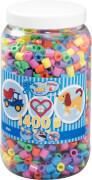 Hama® Bügelperlen Maxi - Pastell Mix 1400 Perlen (6 Farben) in Aufbewahrungsdose