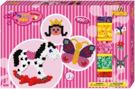 Hama® Bügelperlen Maxi - Gigantische Geschenkpackung pink - 2 Stiftplatten