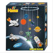 HAMA 3231 Bügelperlen Midi - Geschenkpakung Weltraumabenteuer Set - 2 Stiftplatten, 2500 Perlen, ab 5 Jahren