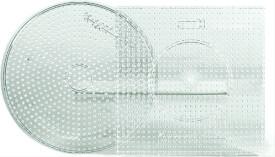 Hama® Bügelperlen Midi - 2er Set Stiftplatten im Beutel - Transparent großer Krei