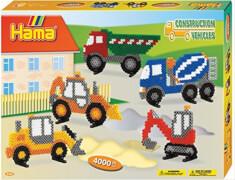 Hama® Bügelperlen Midi - Geschenkpackung Baufahrzeuge - 1 Stiftplatte Brummi, 400
