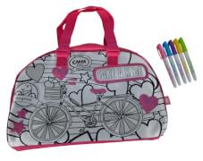 Simba Color Me Mine - Tasche ''Sequin Weekender'' inkl. 5 Farbstiften, ca. 33x23 cm, ab 6 Jahre