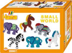Hama® Bügelperlen Midi - Geschenkpackung kleine Welt Pferd & Elefant orange 2000