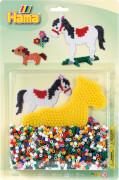 Hama® Stiftplatte+Perlen Pferd, 1.100 Stück