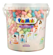 PlayMais® Classic Fashion Eimer 1.000 PlayMais + 25 Karten, Sticker, etc.