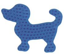 Stiftplatte Kl. Hund, Blau