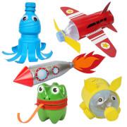 Re Cycle Me - Bastelspaß: Flugzeug, Frosch, Spardose, Rakete, Qualle