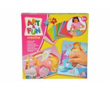 Art & Fun Folienmosaik Einhorn & Meerjungfrau