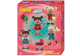 HAMA Geschenkpackung Lustige Puppen mit 2.500 Perlen