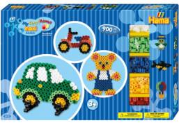 HAMA Maxi Perlen Geschenkpackung blau mit 900 Perlen