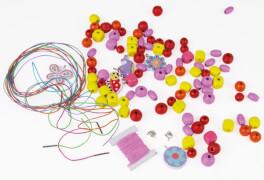 LENA® Holzperlen Tasche, pink