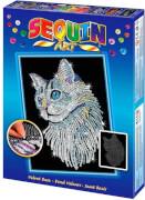Sequin Art Blue - Weiße Katze