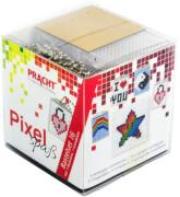 Pixel Bastelset 16 Regenbogen, I Love You, Ying und Yang, Stern