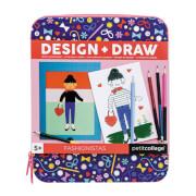 Petitcollage - Design & Draw Activity Kit Fashionista