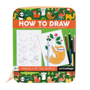 Petitcollage - How to Draw Activity Kit Tiere