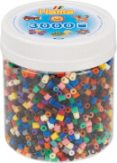 Hama® Bügelperlen Dose Volltonmix 3.000 Perlen