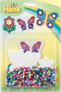 Hama® Bügelperlen Stiftplatten + Perlen Schmetterlinge 1.100 Stück
