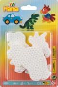 Hama® Bügelperlen Blister 3 Stiftplatten Auto/Dinosaurier/Papagei