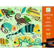 Workshop Ölkreiden: Bunter Dschungel