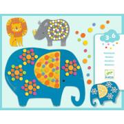 Mosaiken für Kleine: Dschungeltiere