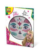 Fashion glitter Gesicht Tattoos - Katze