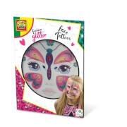 Fashion glitter Gesicht Tattoos -Schmetterling