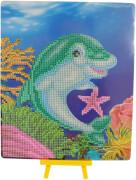 Diamond Painting Delfin mit Aufsteller