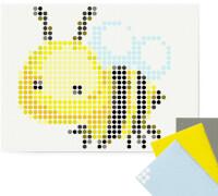 dot on art - DIY-Klebeposter, Bastelset, Stickerset - Motiv: Bee, 30x40 cm