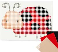 dot on art - DIY-Klebeposter, Bastelset, Stickerset - Motiv: Bug, 30x40 cm