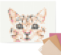 dot on art - DIY-Klebeposter, Bastelset, Stickerset - Motiv: Cat, 30x40 cm