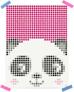 dot on art - DIY-Klebeposter, Bastelset, Stickerset - Motiv: Panda, 30x40 cm