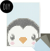 dot on art - DIY-Klebeposter, Bastelset, Stickerset - Motiv: Penguin, 30x40 cm