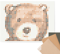 dot on art - DIY-Klebeposter, Bastelset, Stickerset - Motiv:  Teddy, 30x40 cm