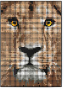 dot on art - DIY-Klebeposter, Bastelset, Stickerset - Motiv: Lion, 50x70 cm