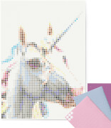 dot on art - DIY-Klebeposter, Bastelset, Stickerset - Motiv: Unicorn, 50x70 cm